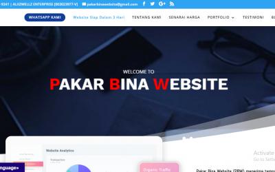 Senarai Upah Website Murah Kuala Lumpur 2020 | PakarBinaWebsite.comsedia membantu anda